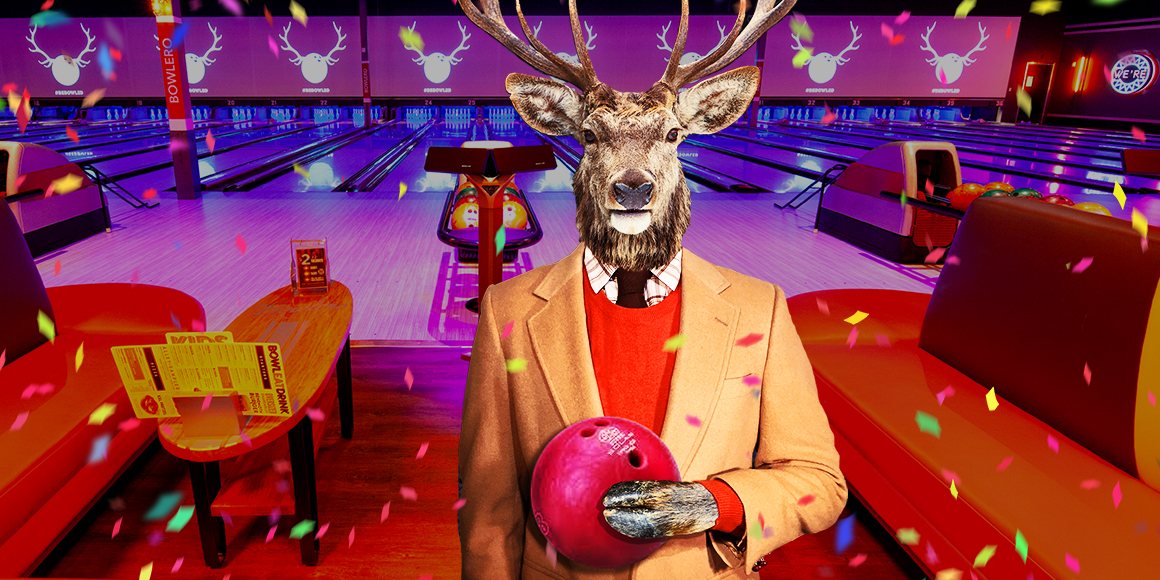 deer with bowling ball