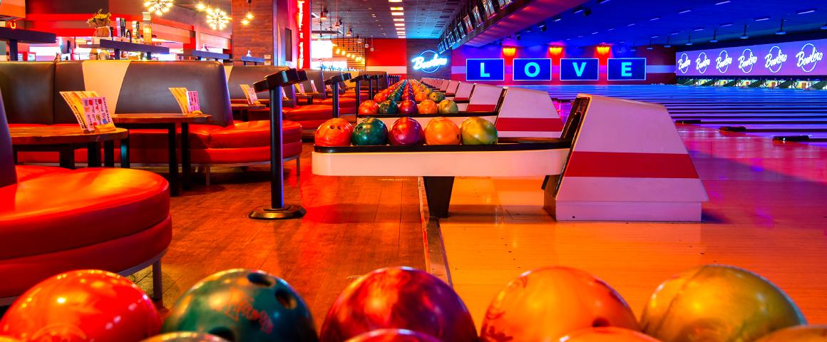 bowling balls on ball returns