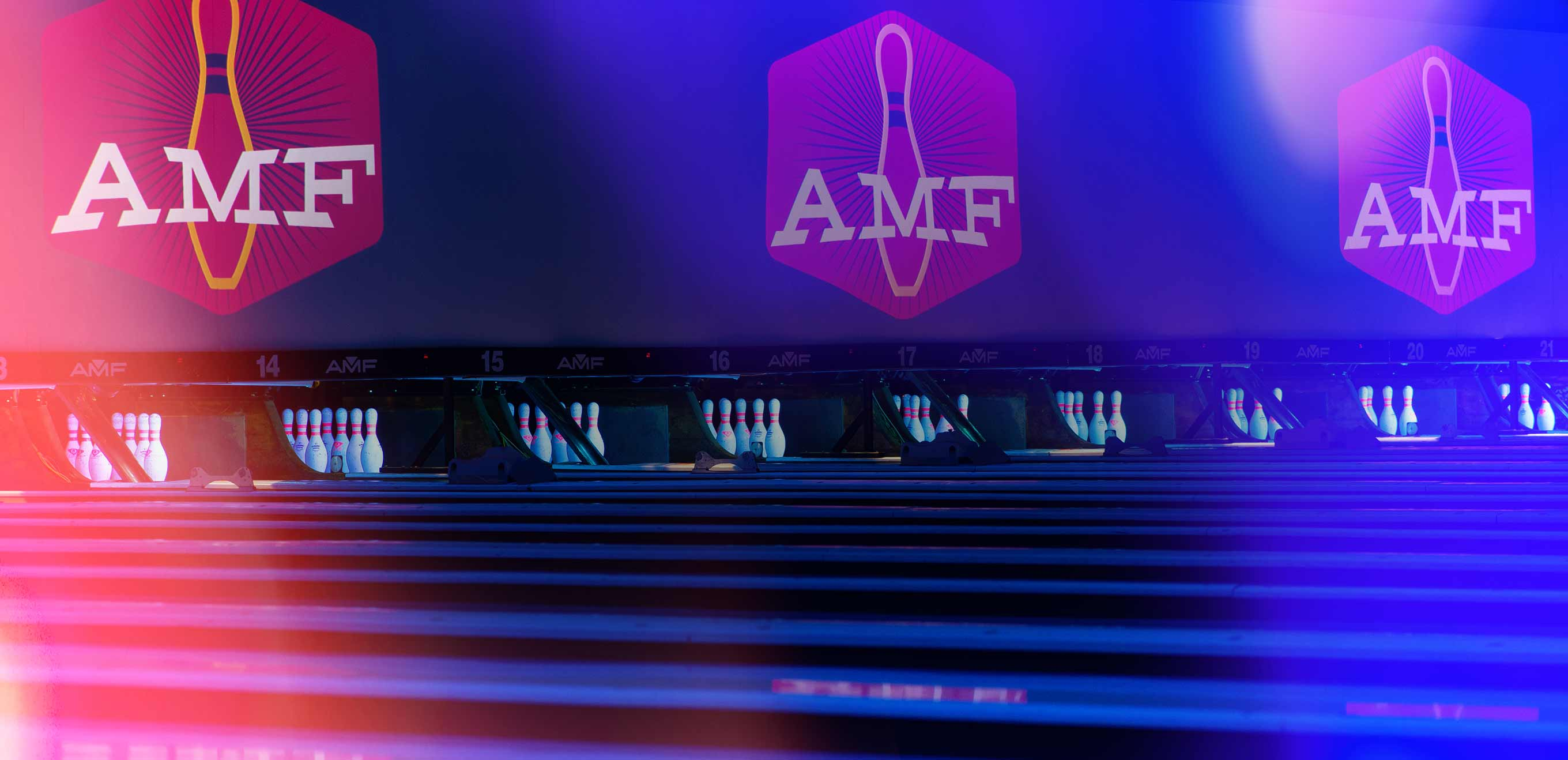 amf logo on image of bowling lanes