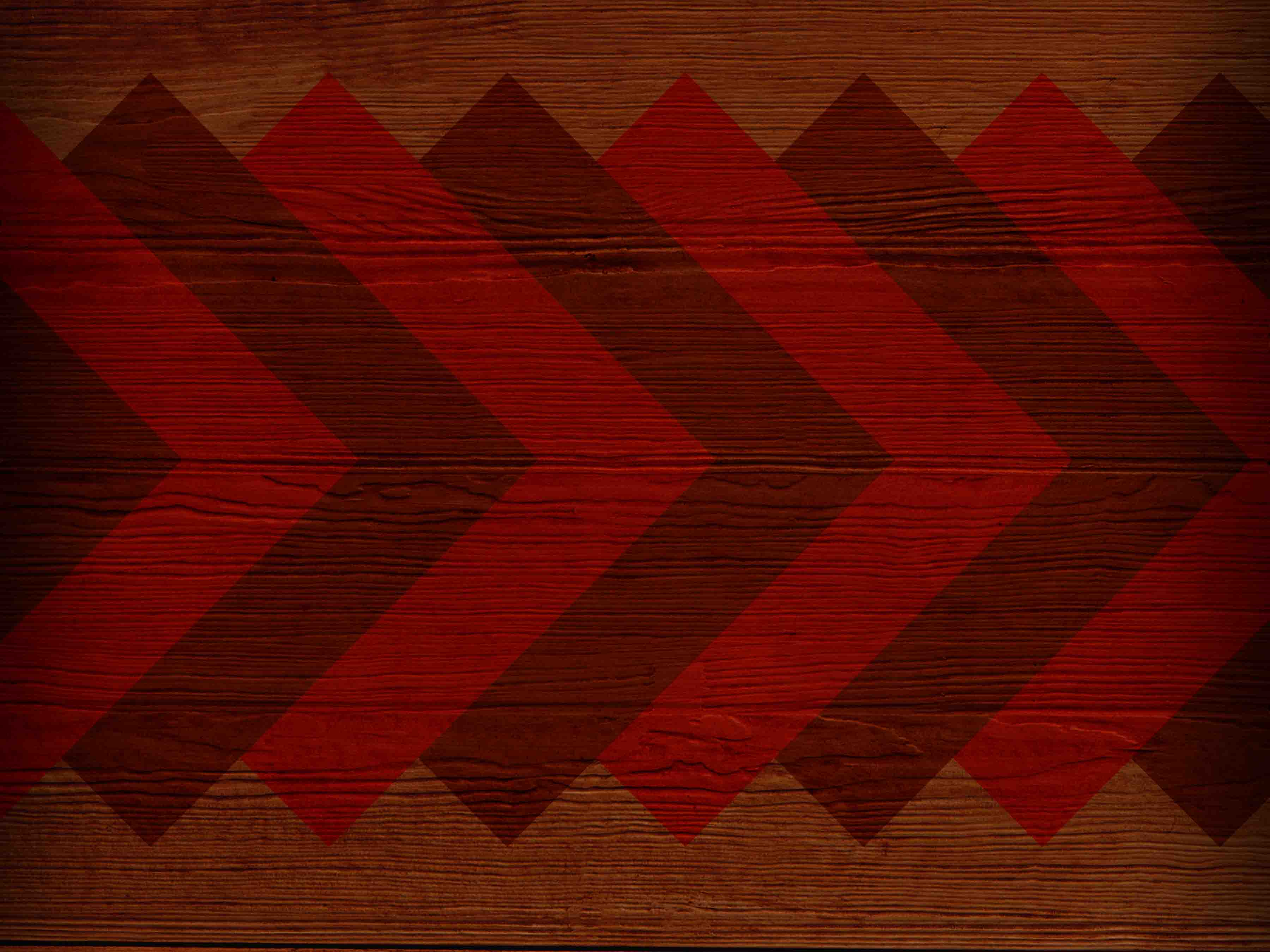 Wood background with red chevron