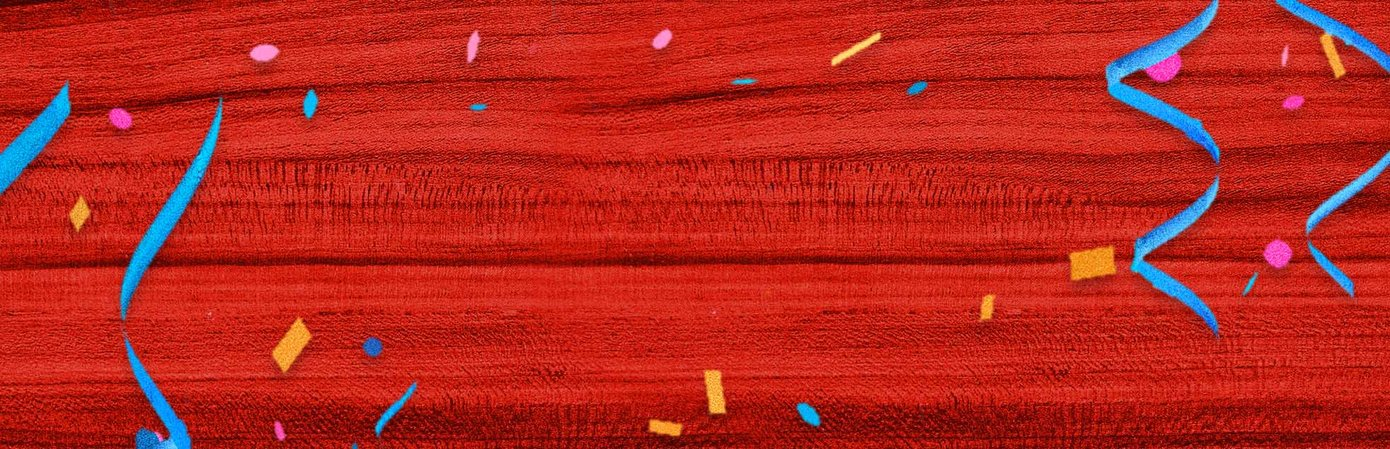 Red wood with confetti