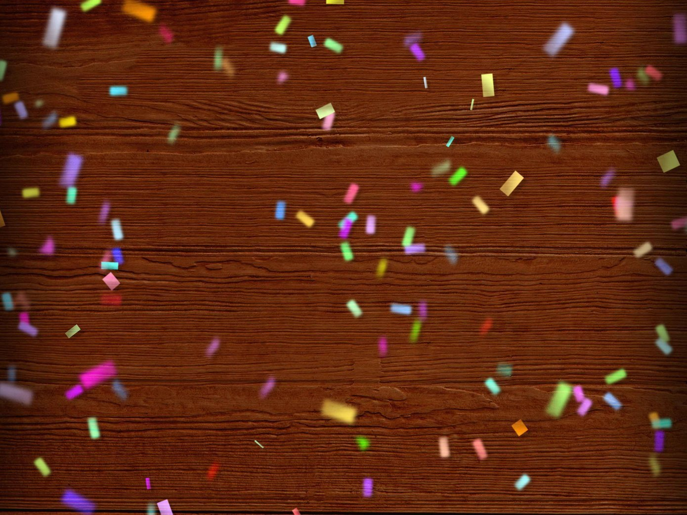 wood with confetti